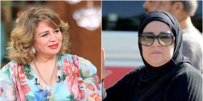 """إلهام شاهين في آخر زيارة لدلال عبد العزيز.. """"أكيد إيمي"""