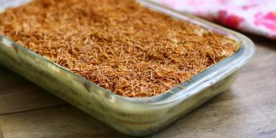 من مطبخ منال العالم.. حلى الشعيرية بالتمر