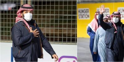 """جاكيت محمد بن سلمان يلفت الأنظار في سباق """"فورمولا أي"""