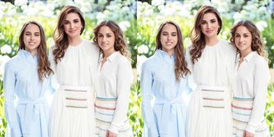 الملكة رانيا تحتفل بعيد ميلاد ابنتيها.. شاهدي إطلالتهن!