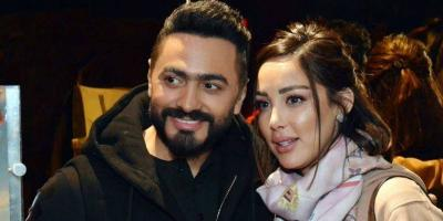 تامر حسني وبسمة لبوسيل معًا بعد إشاعة الزواج السري