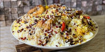 المطبخ الإيراني: أرز بالرمان