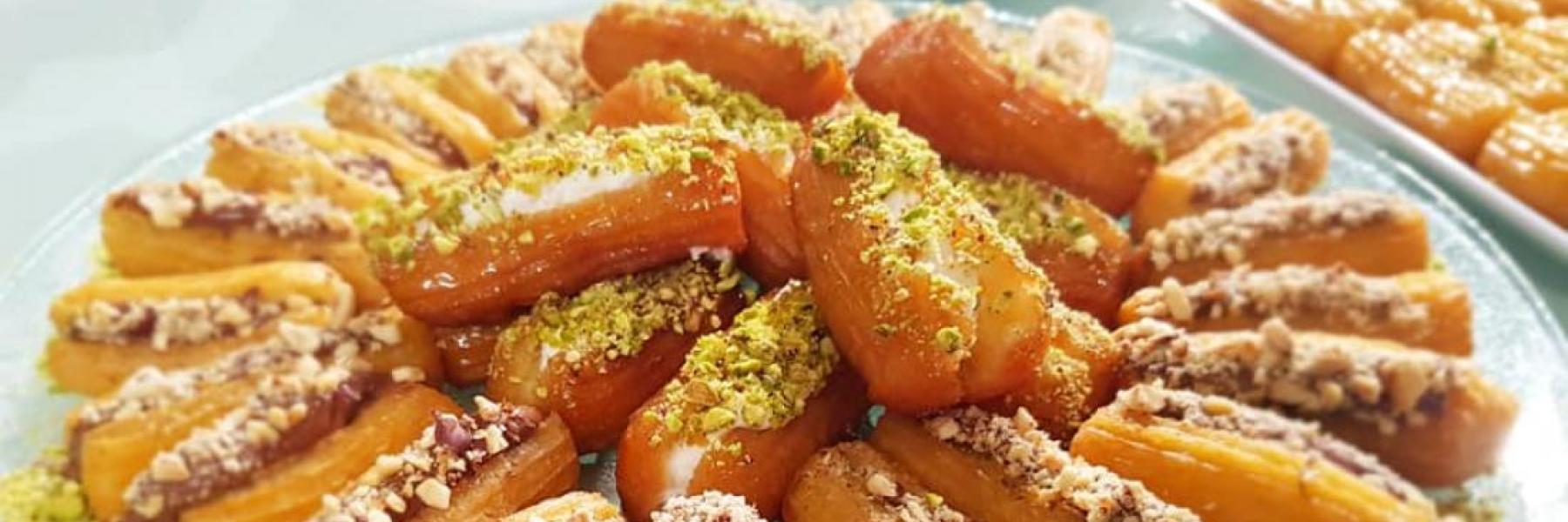 بلح الشام بالقشطة | حلوة